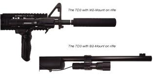 TD3 Mounted With Rail & Barrel Adapters